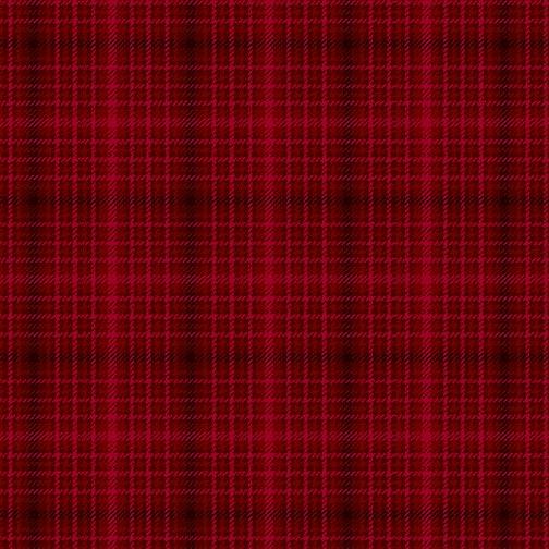 Winter Elegance - Winter Plaid Elegance on Red 12348-10