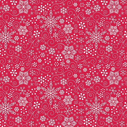 Mulbery Lane Snowflake - Red by Cherry Guidry for Benartex