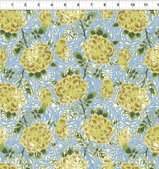 Pastiche - Rose Vine - gold/blue