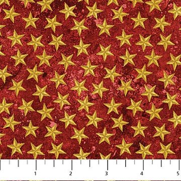 Land of the Free - Red w/Gold Stars