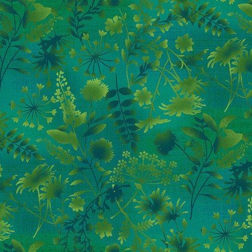 Feather & Flora 4493-66 by Elizabeth Isles Wildflower Toss on Green