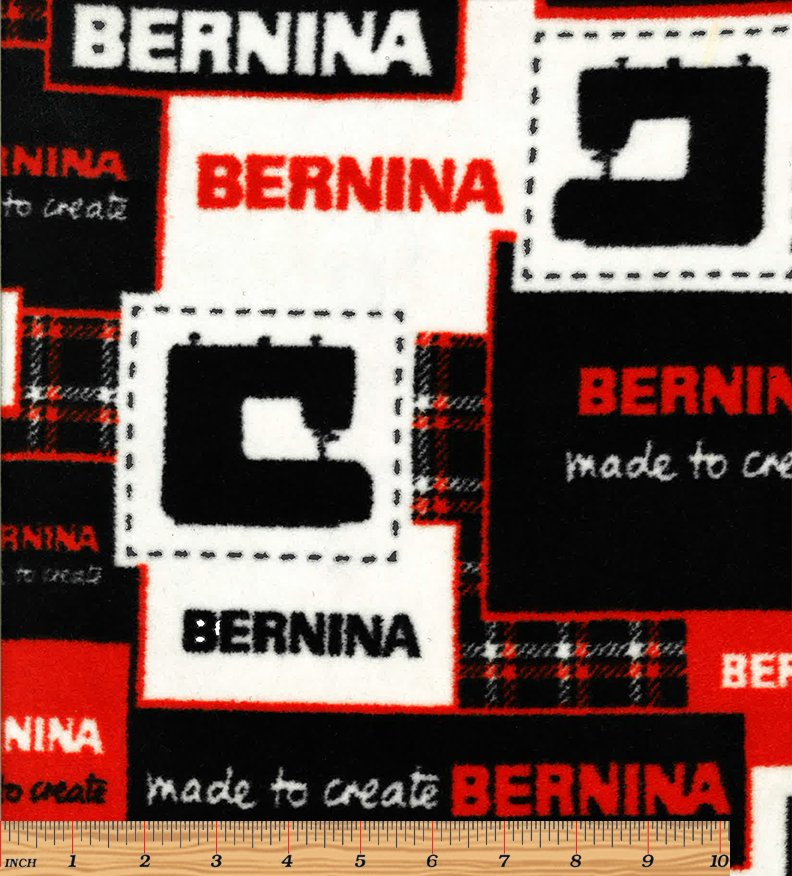 Fleece - Bernina Red/White