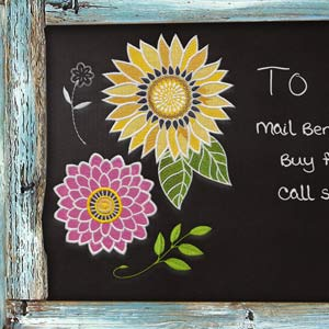 Chalkboard Florals by Jennifer Brinley CD