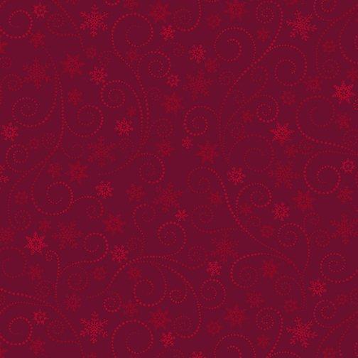 Winter Elegance - Swirling Frost on Red 836-10