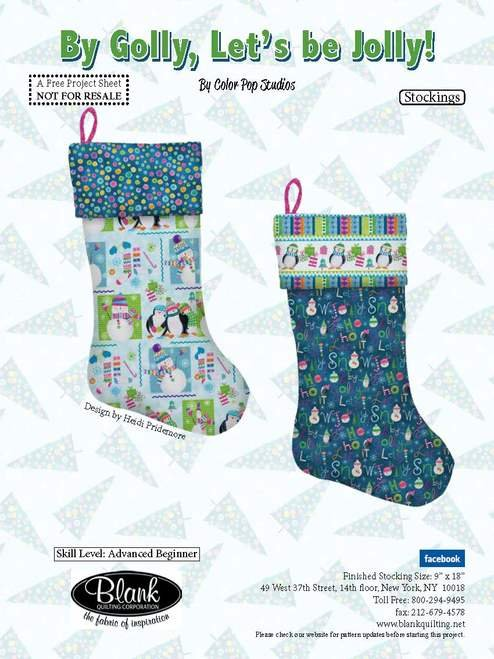 Stocking Pattern - By Golly, Let's Be Jolly!