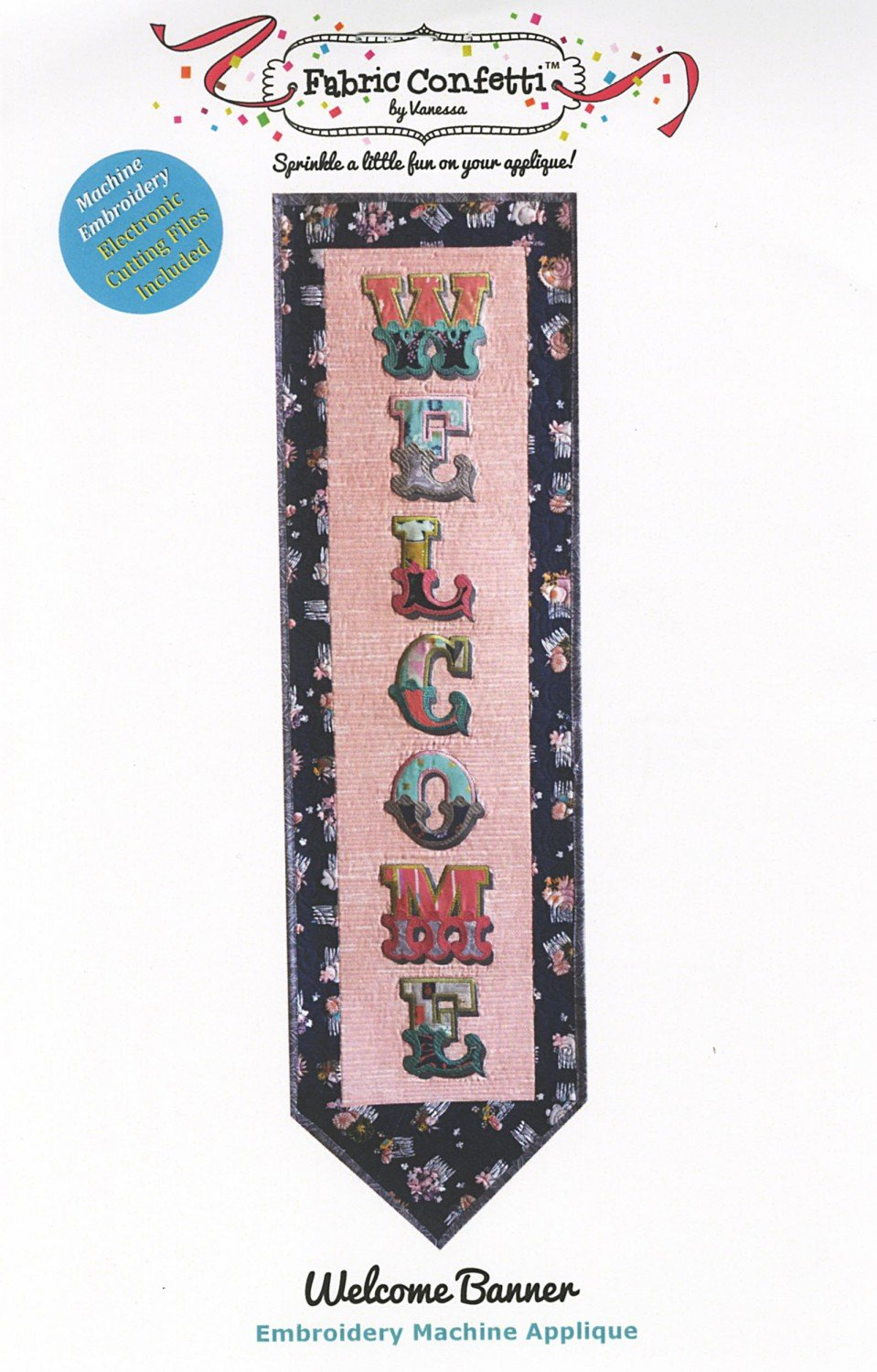 Welcmome Banner - Embroidery Applique on CD
