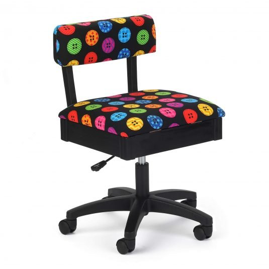 Chair - Adjustable Height Hydraulic - Bright Buttons on Black