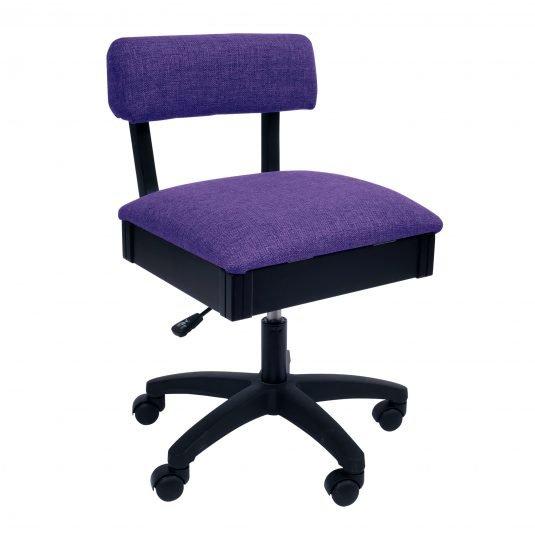 Chair - Adjustable Height Hydraulic - Royal Purple