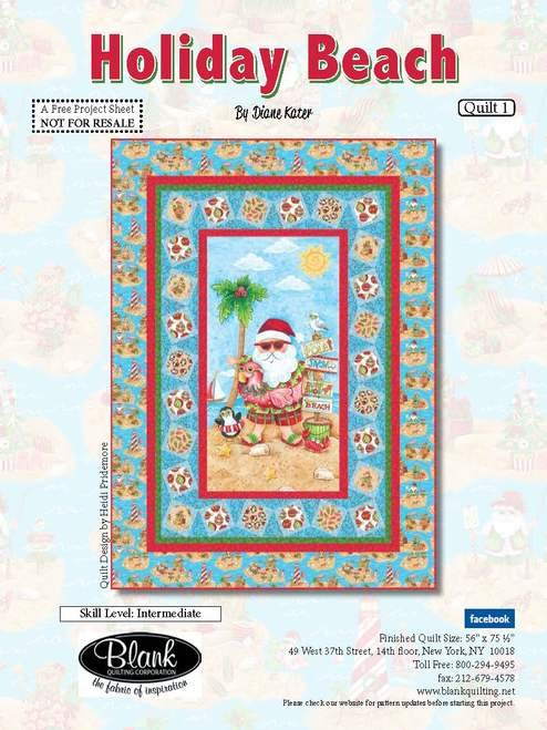 Beach Holiday Quilt #1 - Free Pattern
