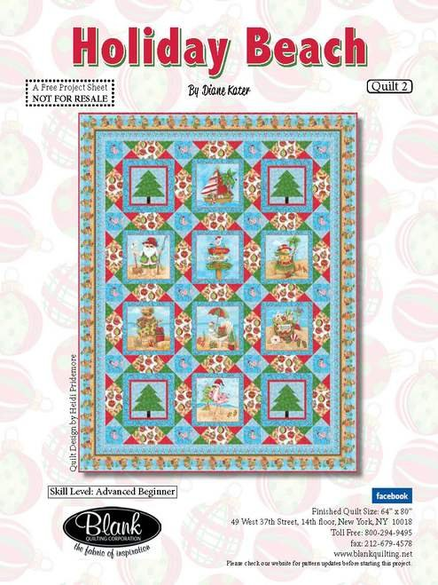 Holiday Beach Quilt #2 - Free Pattern