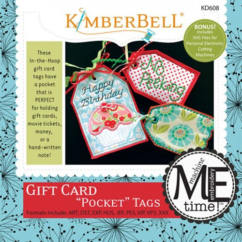 CD Gift Card Pocket Tags Machine Embroidery - Kimberbell