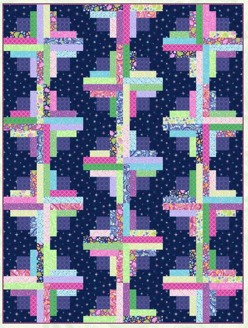 Night Sky Quilt Kit - Amanda Murphy's Crescendo collection