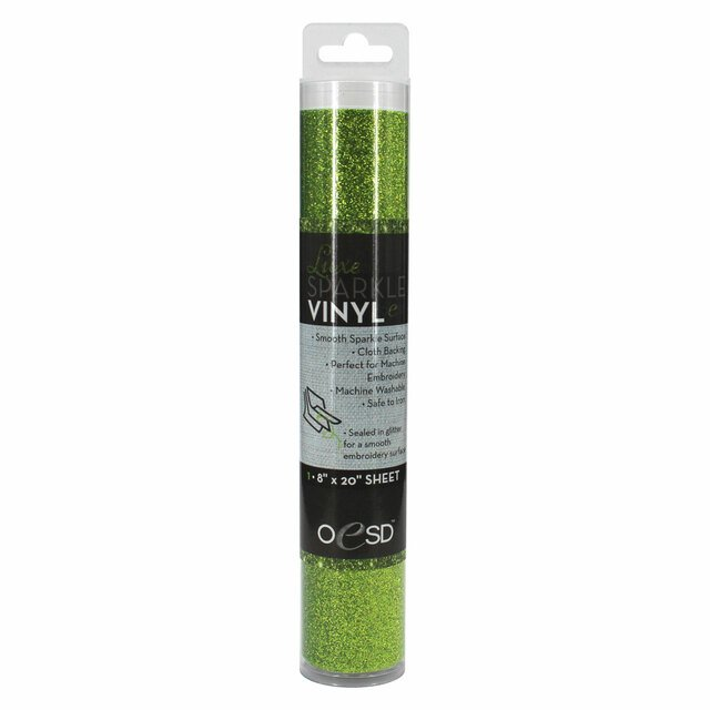 Luxe Sparkle Vinyl Grass Green OESD