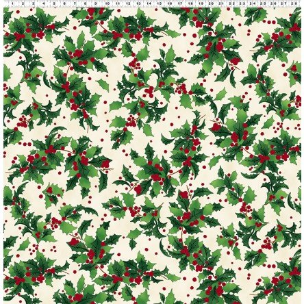 Retro Santa - Holly on cream
