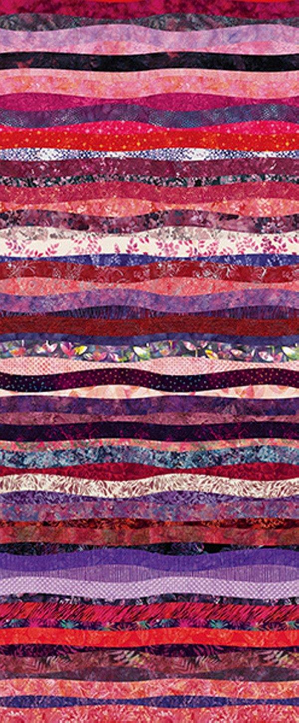 Hoffman Waves - Pink S4832-12-Pink