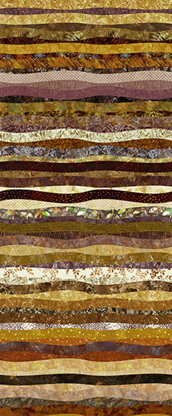 Hoffman Waves - Gold Ochre S4832-624-Gold-Ochre