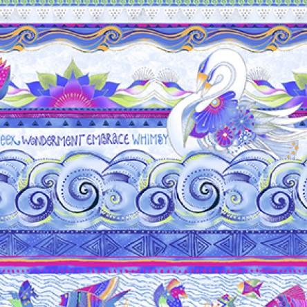 Sea Goddess Border Periwinkle Blue