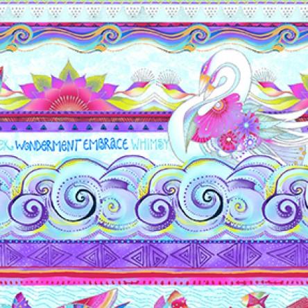 Sea Goddess Border Purple