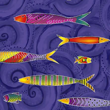 Sea Goddess Fish Dk Purple