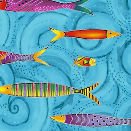 Sea Goddess Fish Sky Blue