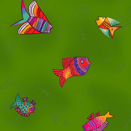 Sea Goddess Sm Fish Dk Olive