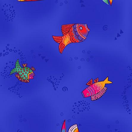 Sea Goddess Sm Fish Royal Blue