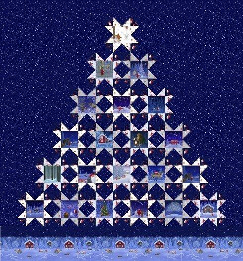 Tomten Christmas Quilt Kit