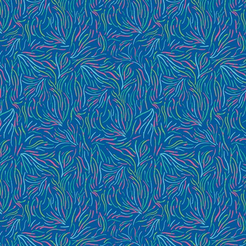 Playful Seaweed Nightglow from West Palm collection by Katie Skoog for Art Gallery Fabrics