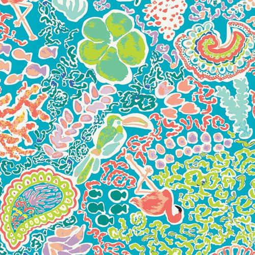 Beach Treasures Luminescent from West Palm collection by Katie Skoog for Art Gallery Fabrics