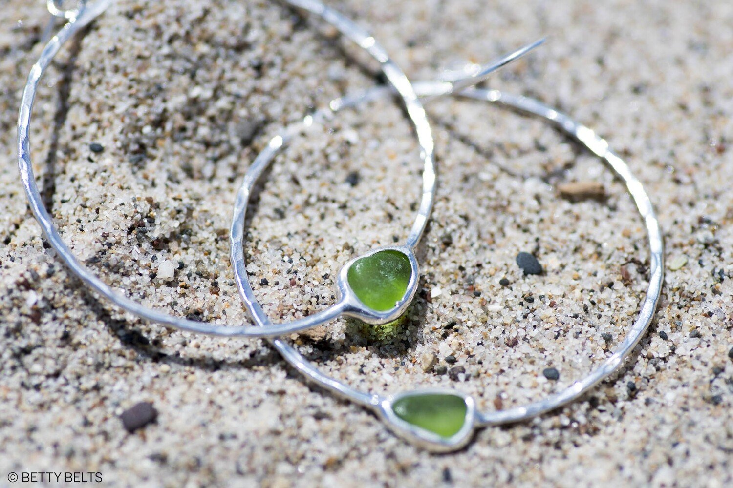 Leilani Sea Glass Hoop Earrings