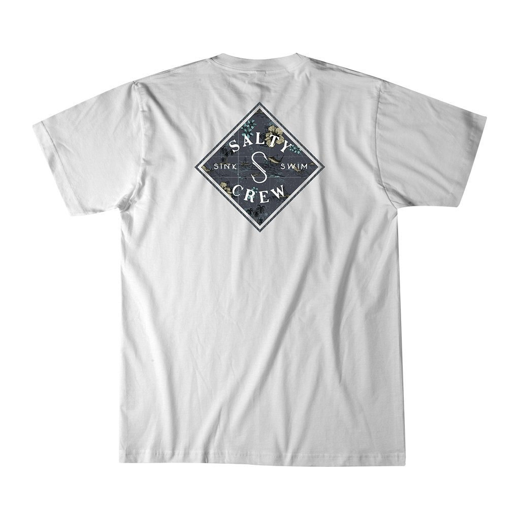 Salty Crew Tippet Triad Short Sleeve T-Shirt in White