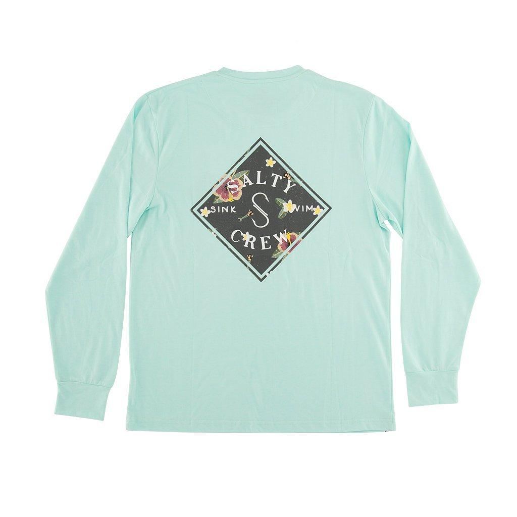 Salty Crew Island Time Tech Long Sleeve Shirt in Aqua