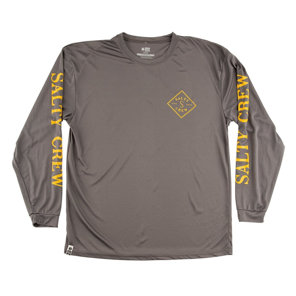 Salty Crew Tippet Tech Long Sleeve Shirt in Charcoal
