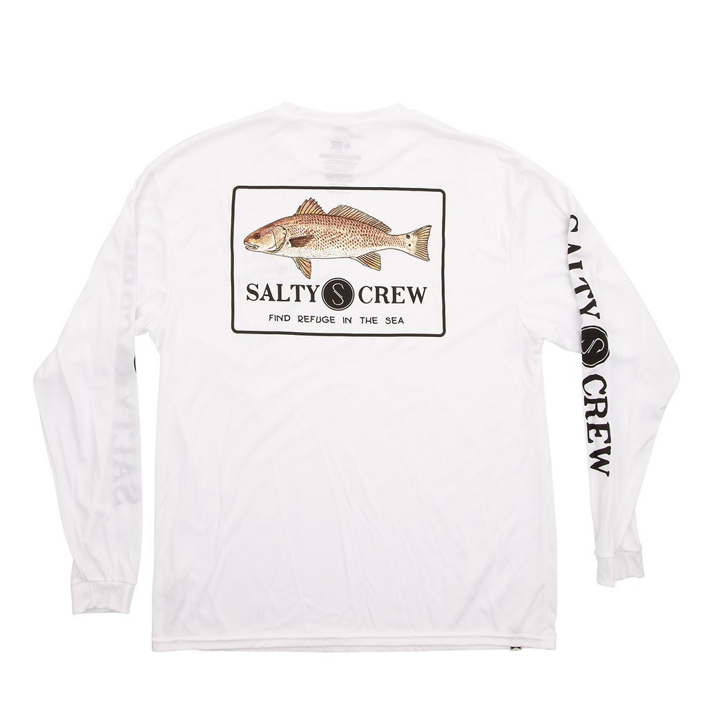 Salty Crew Spot Tail Tech Long Sleeve Shirt in White