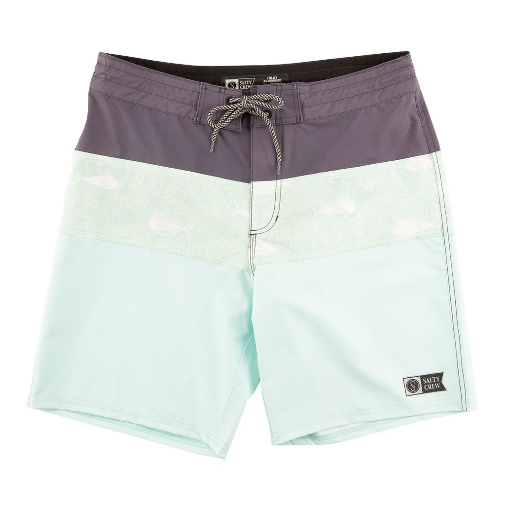 Salty Crew Popper Utility Board short in Mint