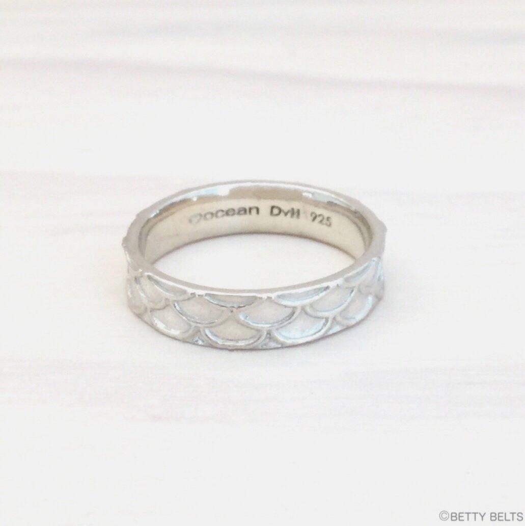 Mermaid Scales Ring, Sterling Silver