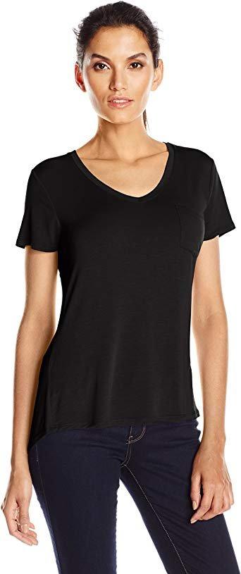 PrAna Foundation Short Sleeve Vneck in Black