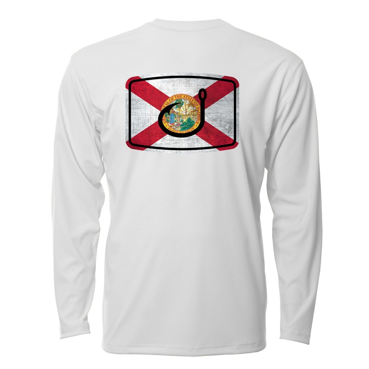 Avid Floridan AVIDry long sleeve shirt-white