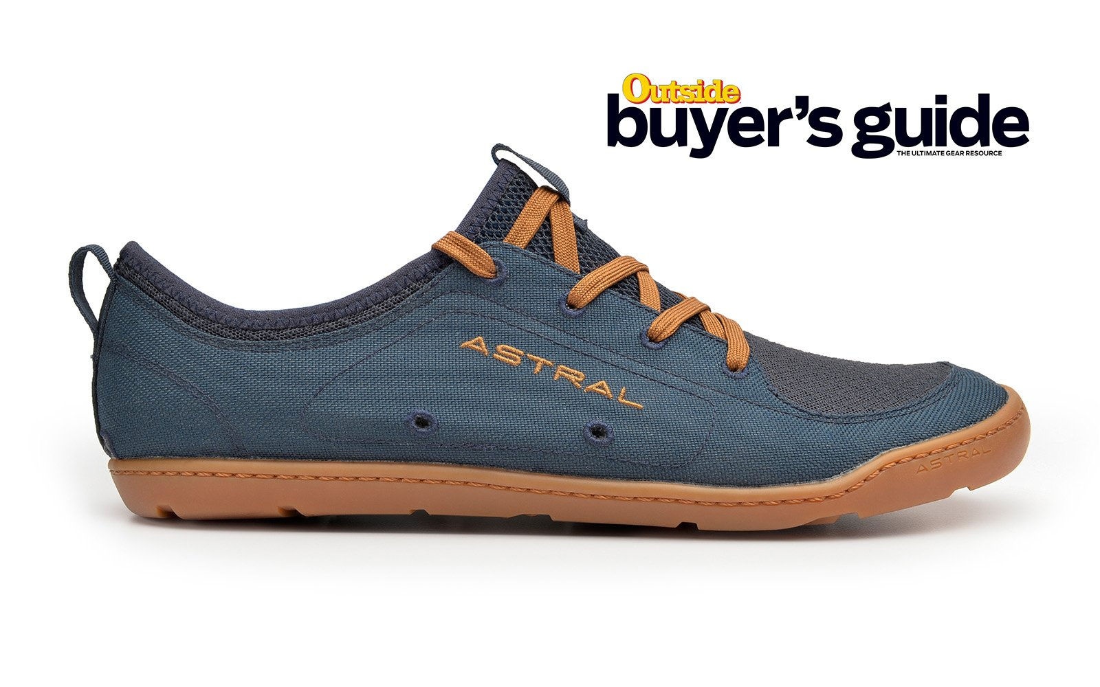 Astral Loyak Men's Water Shoes in Navy/Brown