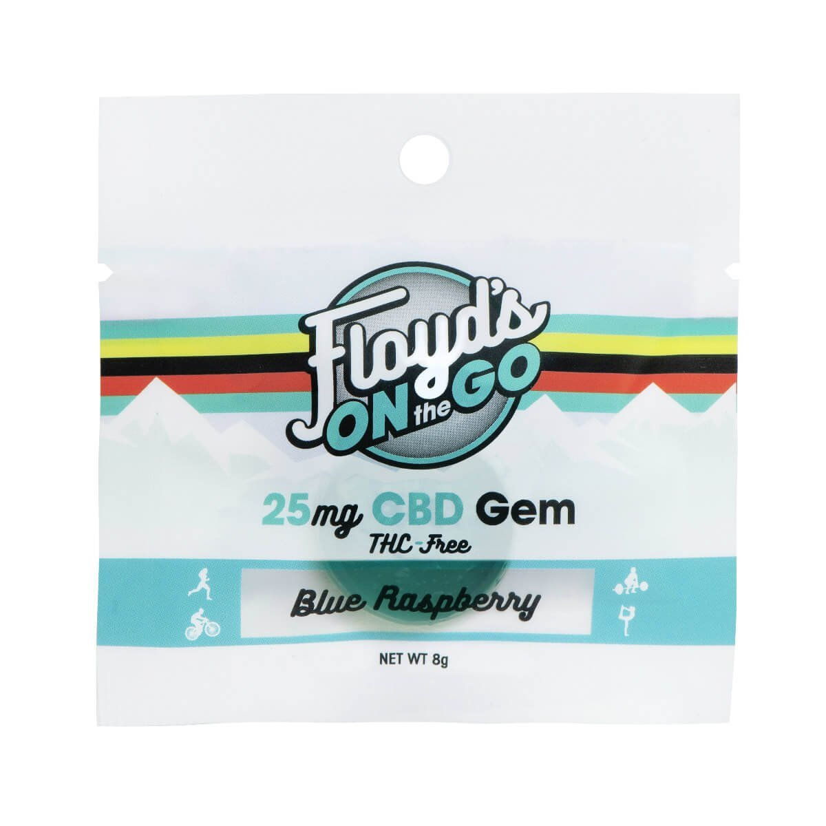 Floyd's of Leadville Blue Raspberry CBD Gems, 25mg
