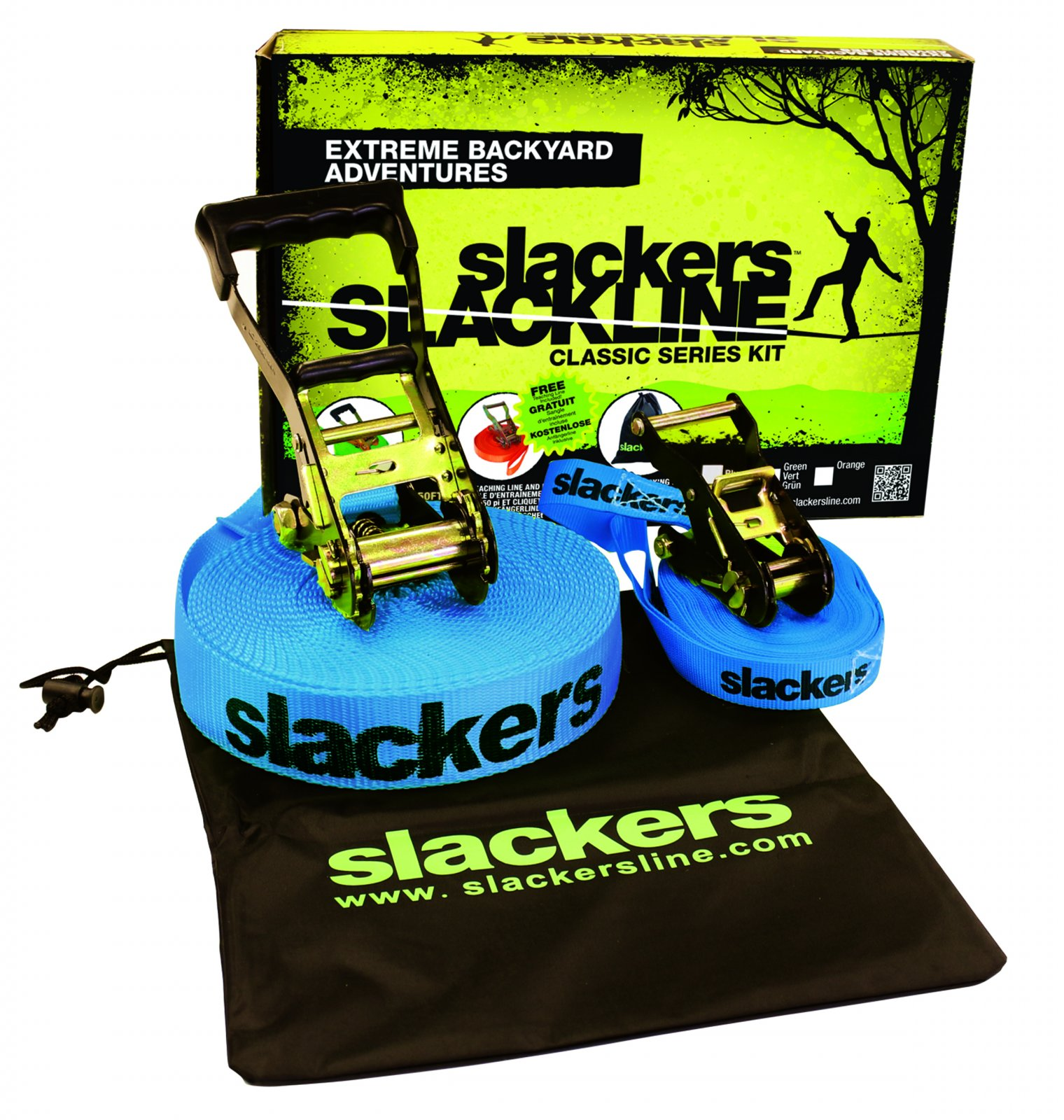 Slackline 50' classic w/ teaching line and bag