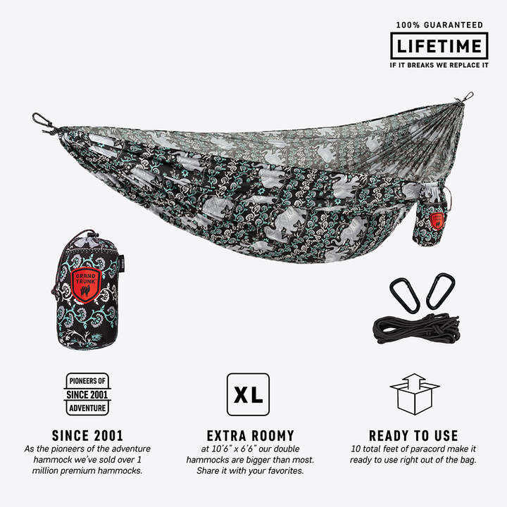 Thai Collection Double Parachute Nylon Hammock