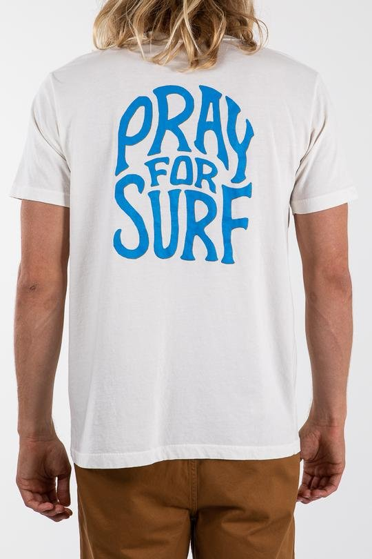 Katin Pray for Surf Crackle Tee White