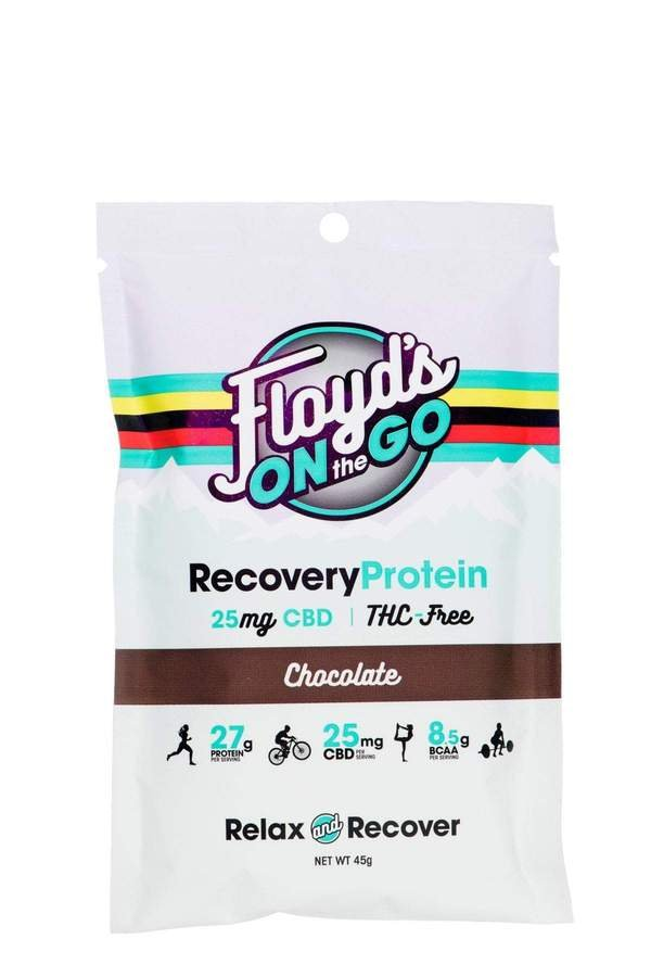 Floyd's of Leadville CBD Chocolate Protein Powder 25MG, (THC Free) - 6 single serving packets