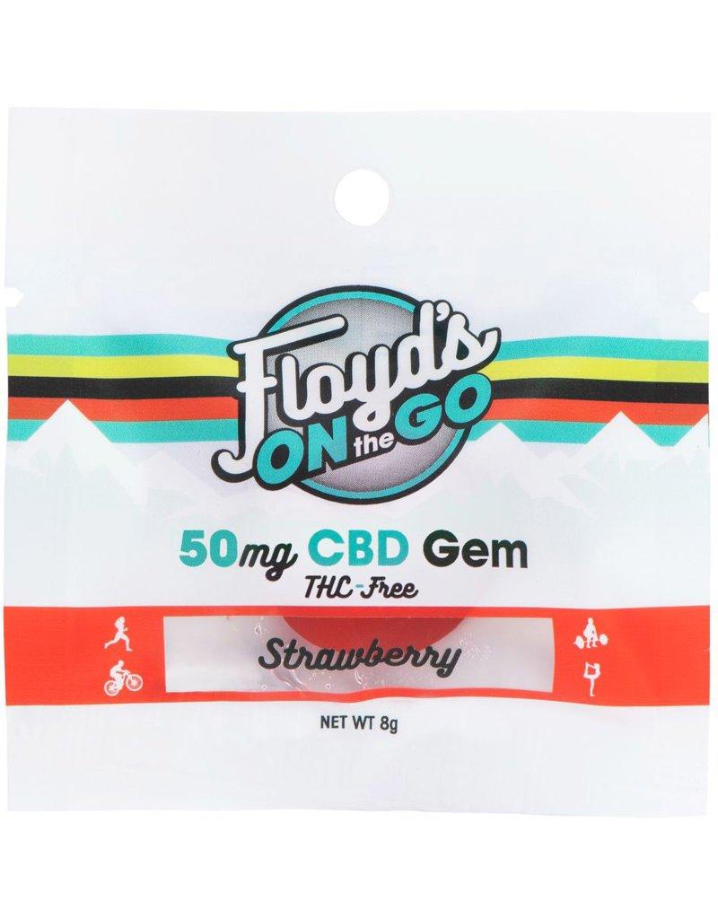 Floyd's of Leadville Strawberry CBD Gems, 50mg.