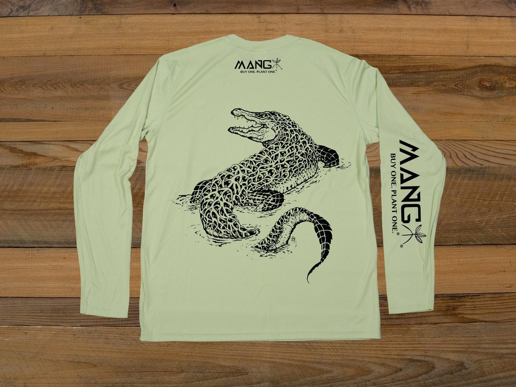 MANG Gator Performance Long Sleeve Shirt UPF 50 in Sage - copy
