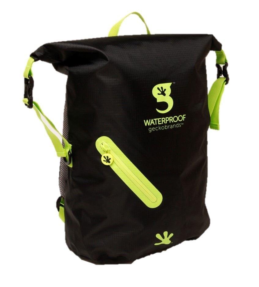 Geckobrands Waterproof Lightweight Backpack Black/Bright pink