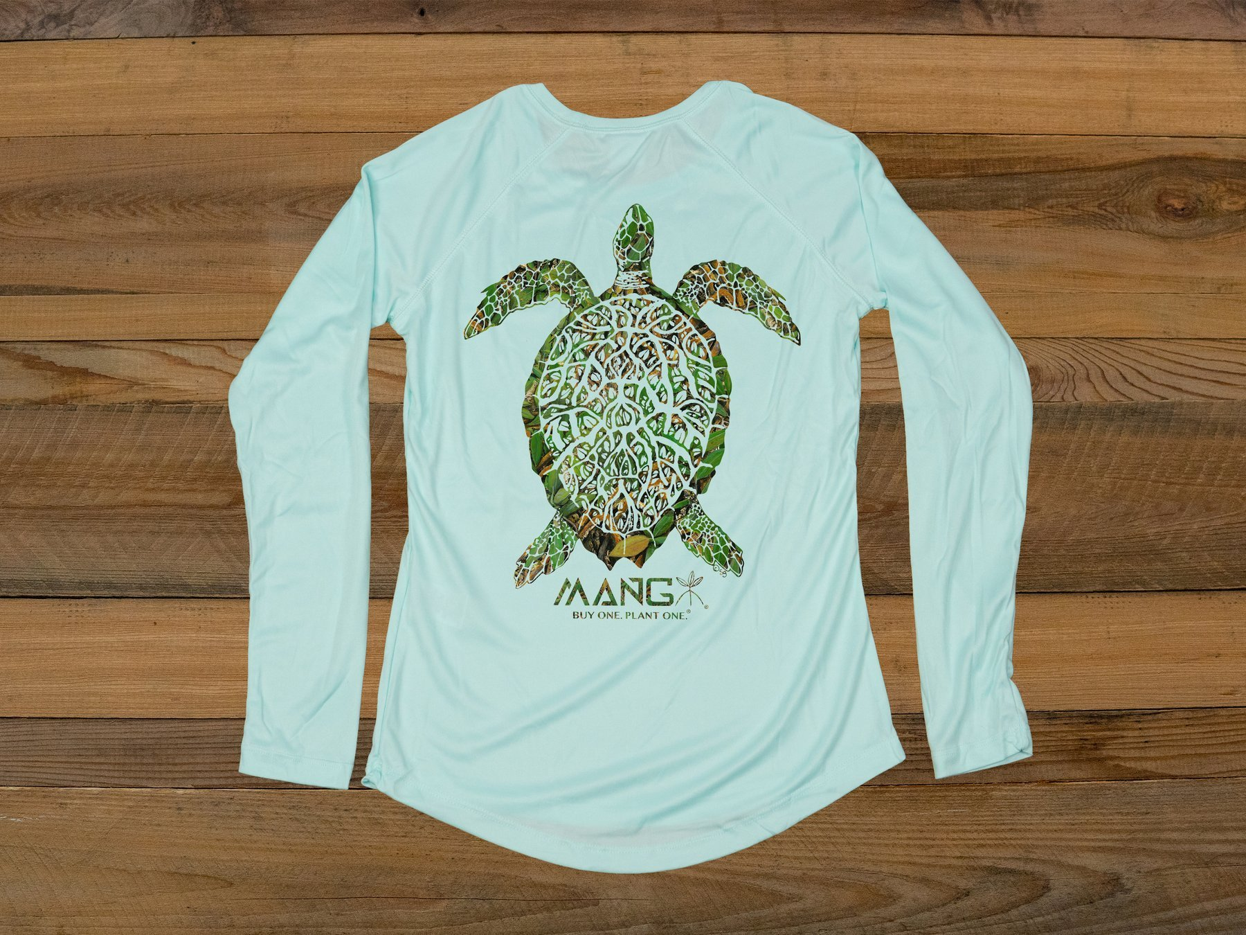 MANG Women's Grassy Turtle L/S - Seagrass