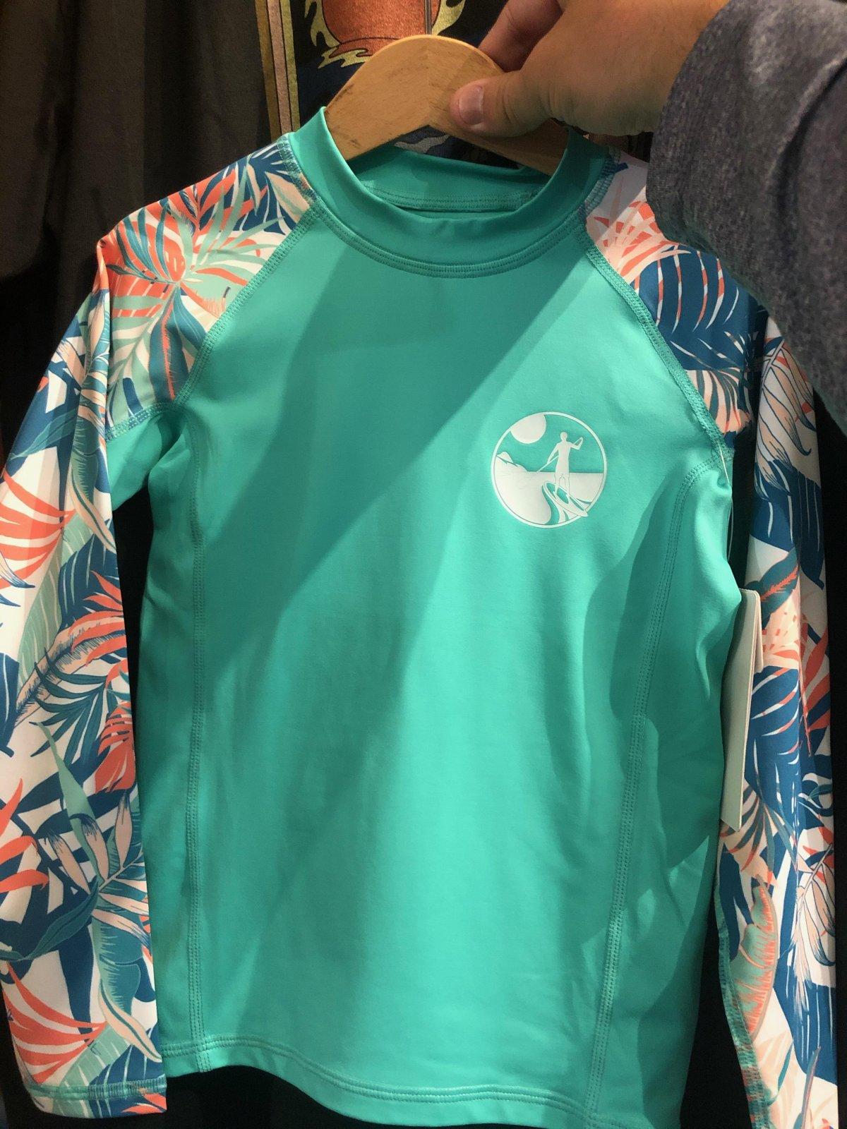 UK L/S Girl's Sun Shirt Mint '21
