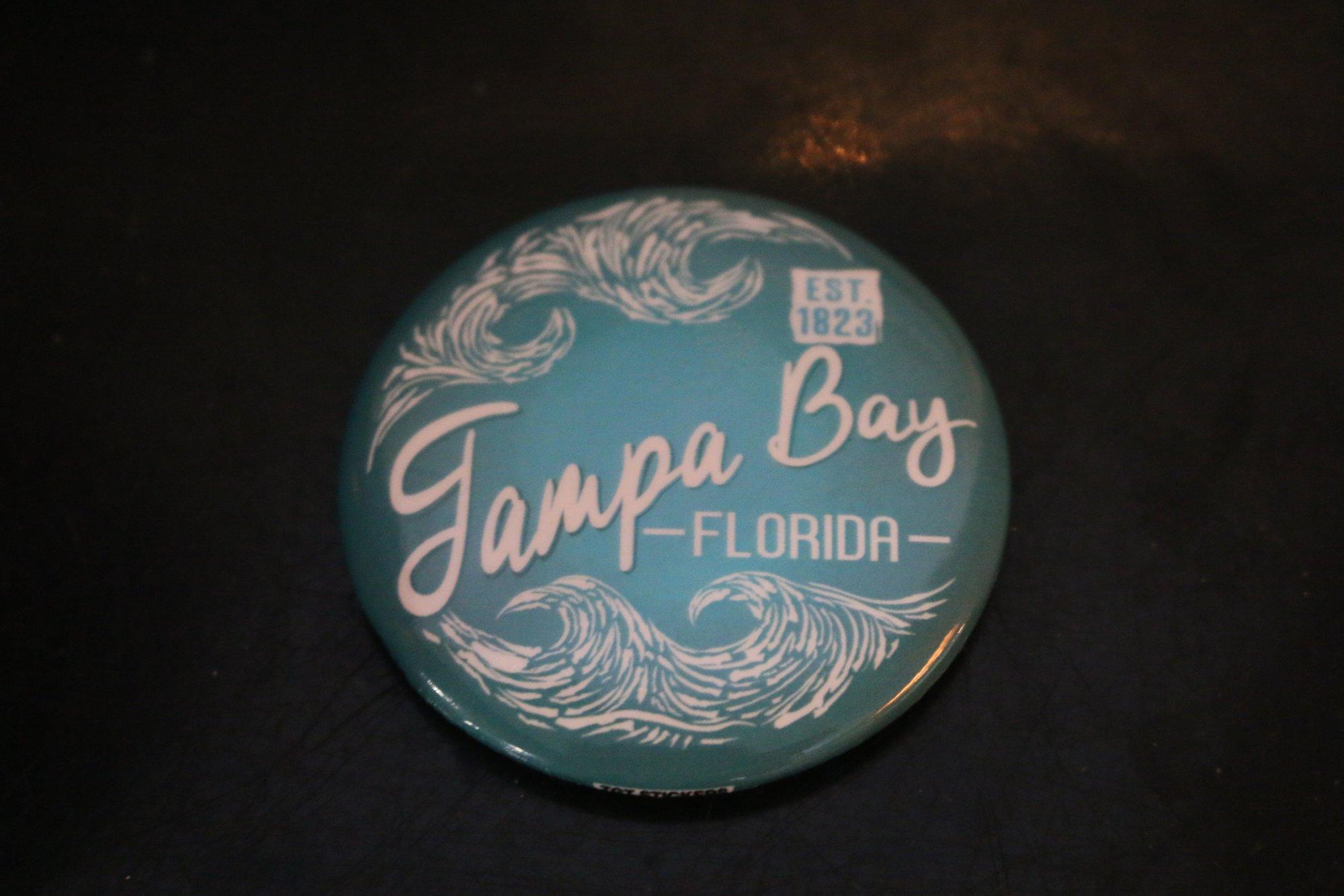Magnet - Woodcut Circle Wave Tampa Bay